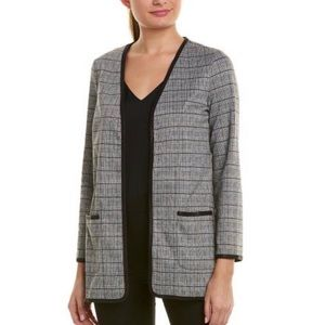 NWT Max Studio Black White Houndstooth Cardigan
